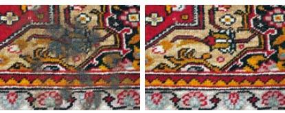 Galerie RUMI | Teppichschäden | brandschaeden