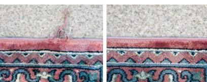 Galerie RUMI | Teppichschäden | Kantenschäden