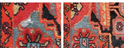 Galerie RUMI | Teppichschäden | Schäden durch Motten