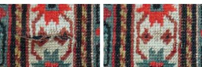 Galerie RUMI | Teppichschäden | risse