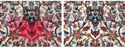 Galerie RUMI | Teppichschäden | verfaerbungen